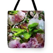 Double Cherry Blossoms Tote Bag