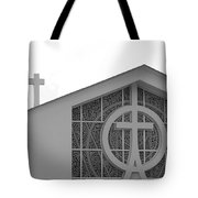 Double Cross Church Tote Bag