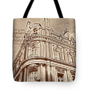 Double Decker View Quote Tote Bag