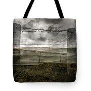 Double Exposure Landscape Tote Bag