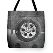 Double Exposure Manhole Cover Tire Holga Photography Tote Bag