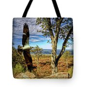 Double Exposure Osprey And High Point Nj Tote Bag
