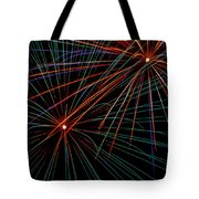 Double Fireworks Tote Bag