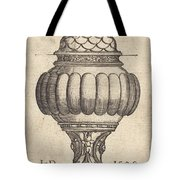 Double Goblet With Oval Decorations Tote Bag
