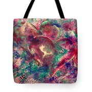 Abstract Double Hearts Tote Bag