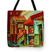 Double Hook Book Nook Tote Bag