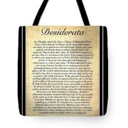 Double Matted Fossilized Desiderata Tote Bag