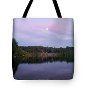 Double Moon At Dusk Tote Bag