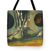 Double Moon Desert Tote Bag