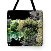 Double Moon Tote Bag