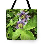 Double Passion Flowers Tote Bag