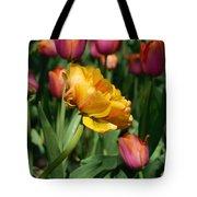 Double Petal Yellow Tulip Tote Bag