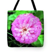 Double Pink Zinnia Tote Bag