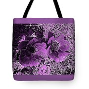 Double Poppies In Purple Tote Bag