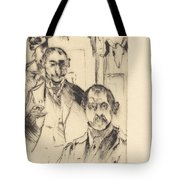 Double Portrait With Skeleton (doppelbildnis Mit Skelett) Tote Bag