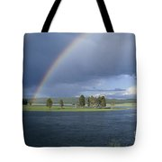 Double Rainbow At Alum Creek Tote Bag
