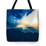 Double Rainbow Over Provo, United States Tote Bag
