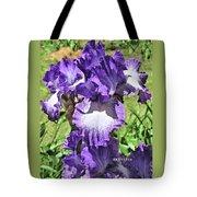 Double Ruffled Purple Iris Tote Bag