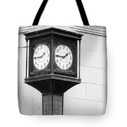 Double Time Black And White Tote Bag