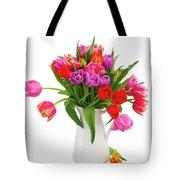 Double Tulips Bouquet Tote Bag