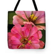 Double Vision In Pink Tote Bag