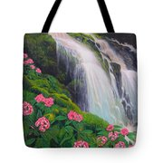 Double Hawaii Waterfall Tote Bag