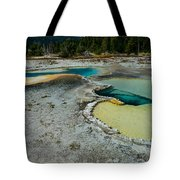 Doublet Pool Hot Spring In Yellowstone Tote Bag
