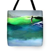 Doug Working Late Off Encinitas Tote Bag