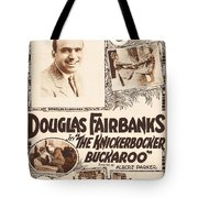 Douglas Fairbanks In The Knickerbocker Buckaroo 1919 Tote Bag