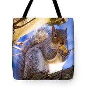Douglas Squirrel Eating Tote Bag