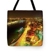 Douro River Skyline Night Tote Bag