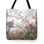 Dove And Roses Tote Bag