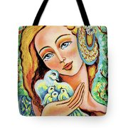 Dove Forest Fairy Tote Bag