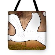 Dove In White Tote Bag