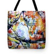 Dove On The Yellow Tree Tote Bag