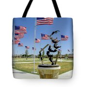 Doves And Flags Tote Bag