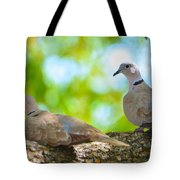 Doves In A Tree Tote Bag