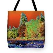 Down Along The Spokane River Tote Bag