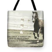 Down And Back Quote Tote Bag