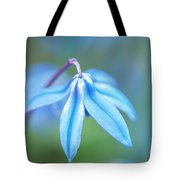 Down And Blue Tote Bag