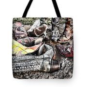 Down Boots Up Boots Tote Bag