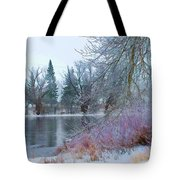 Down By The Riverbend Tote Bag