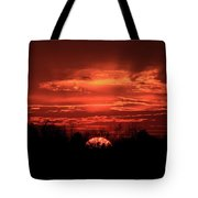 Down For The Count Sunset Art Tote Bag