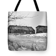 Down On The Farm Bw Tote Bag