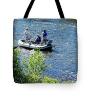 Down River Fly Fishing Tote Bag