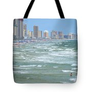 Down The Beach Tote Bag