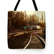 Down The Right Track 2 Tote Bag