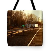 Down The Right Track Tote Bag