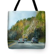 Down The Road On Route 89 Tote Bag
