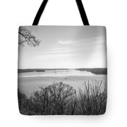 Down The Susquehanna_bw Tote Bag